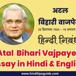 atal bihari vajpayee par essay in english, atal bihari vajpayee essay in hindi 500 words, अटल बिहारी वाजपेयी निबंध